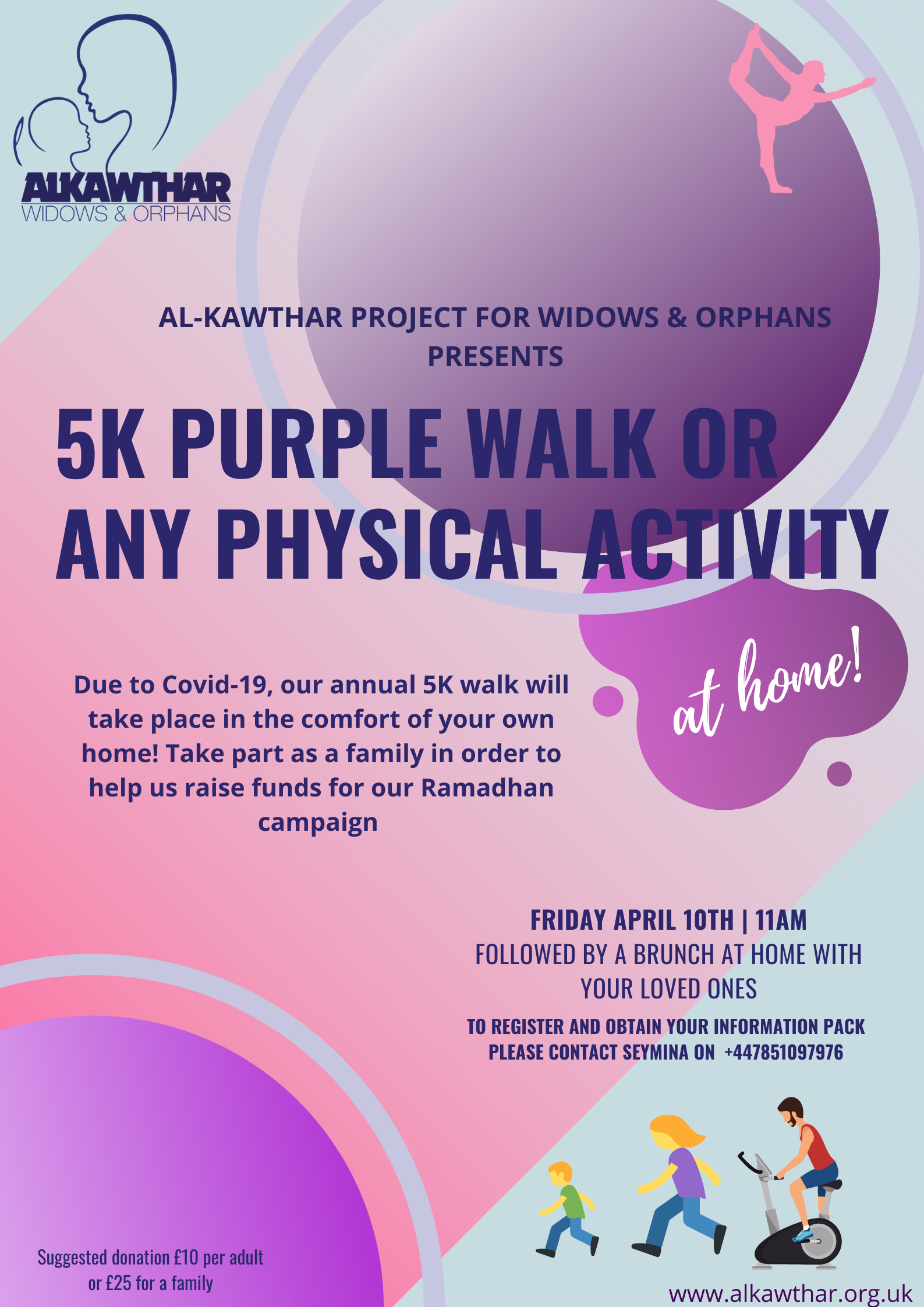 5K Walk/Physical Exercise at home