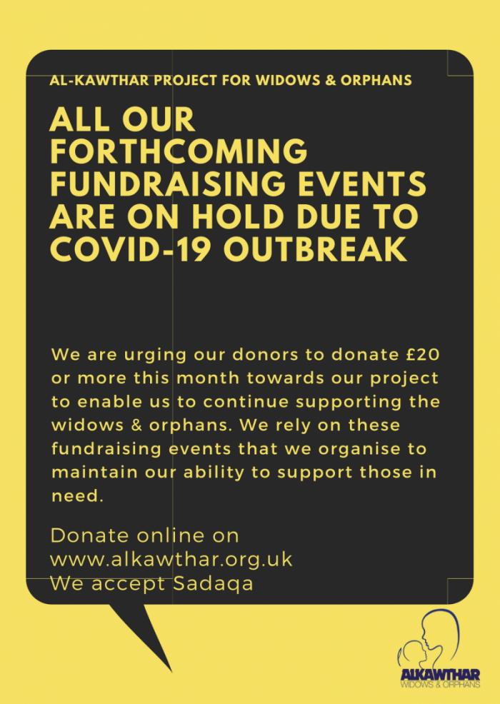 Events Cancelled due to Covid-19