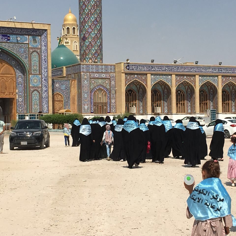 widows visiting the shrines